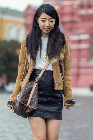 Yuwei Zhangzou Street Style Day 3 Mercedes-Benz Fashion Week Russia