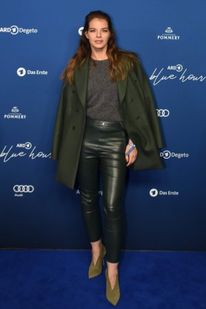 Yvonne Catterfeld attends ARD Blue Hour Party