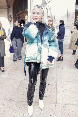 Zara Larsson attends Stella McCartney show in Paris