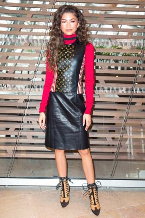 Zendaya attends Louis Vuitton Fashion Show