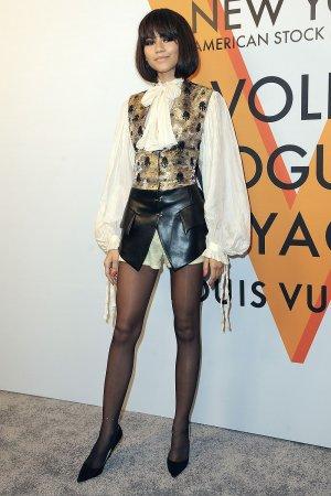 Zendaya attends Louis Vuitton Volez, Voguez, Voyagez exhibition opening