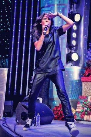 Zendaya Coleman performs at AMP Radio's Toys For Teens drive