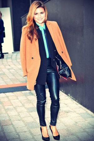 Zoe Hardman attends London Fashion Week