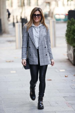 Zoe Hardman seen at Heart radio studios in London