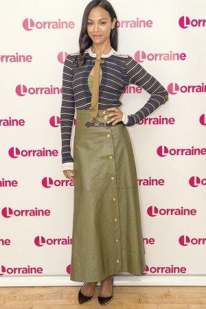 Zoe Saldana at Lorraine TV show