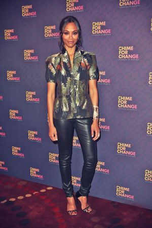 Zoe Saldana at the Chime For Change: The Sound Of Change