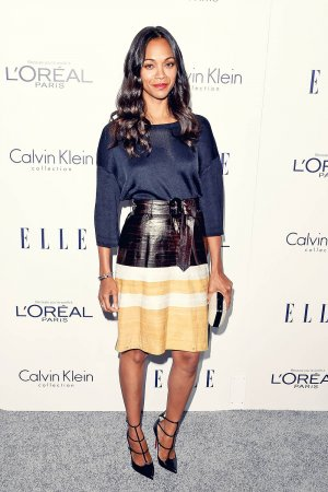Zoe Saldana the 22nd Annual ELLE Women in Hollywood Awards