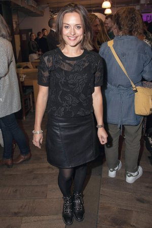 "Zoe Tapper at press night for the play ""Hogarth's Progress"""