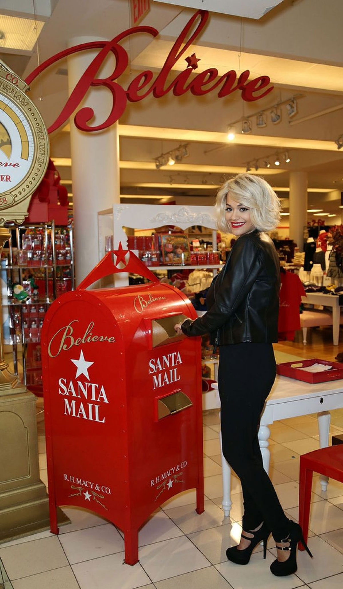 Rita Ora celebrating The Material Girl Holiday Collection