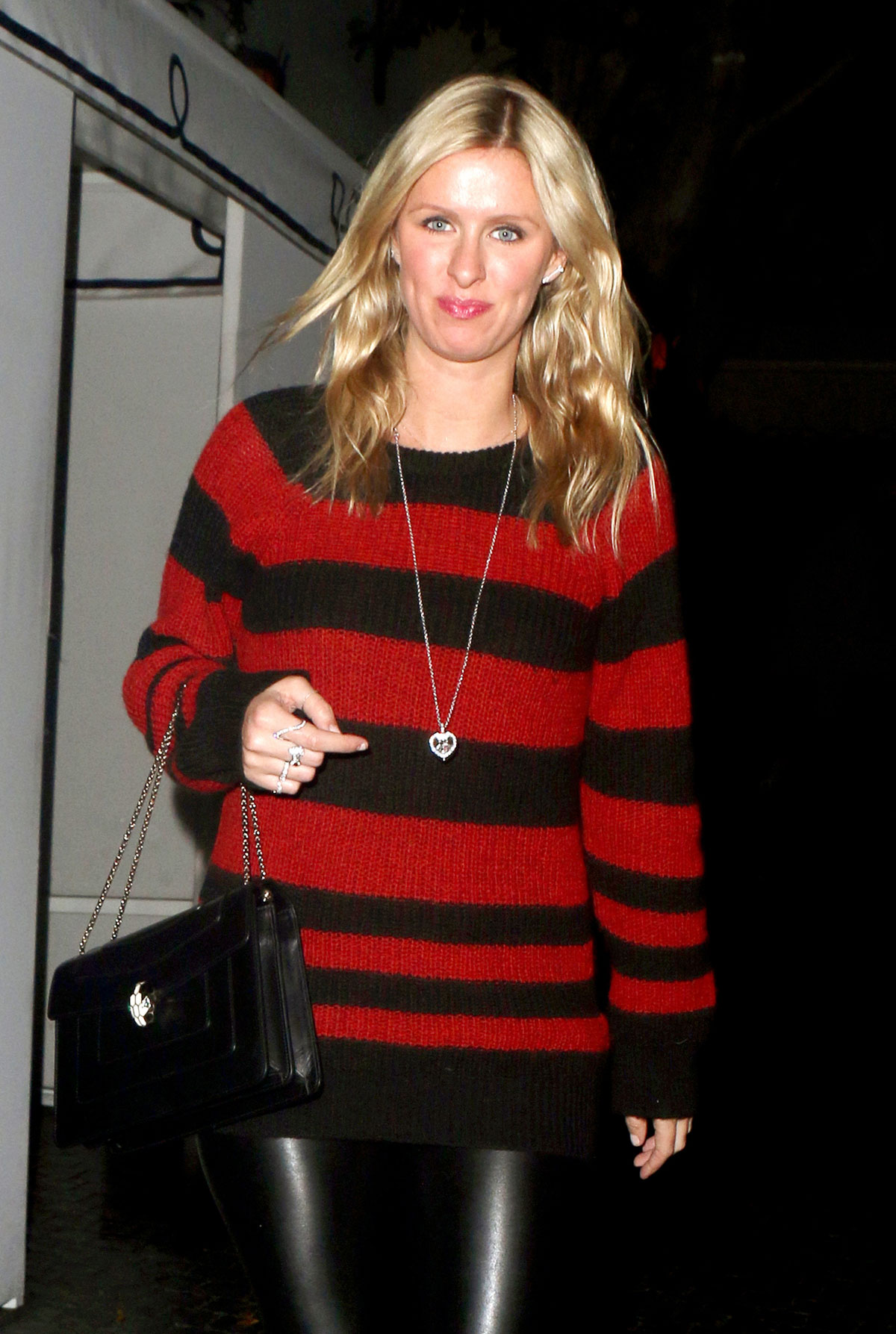 Nicky Hilton leaving Chateau Marmont restaurant