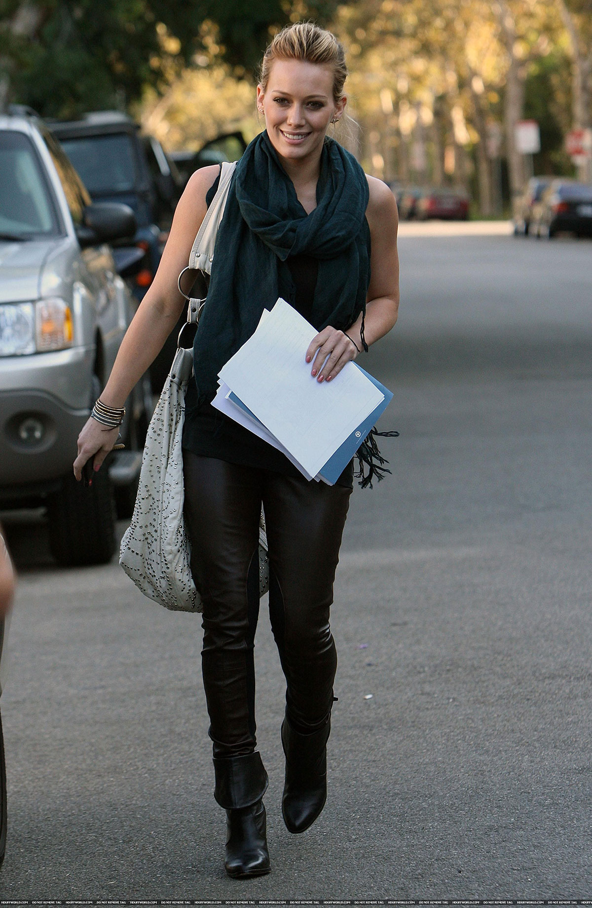 Hilary Duff was spotting heading into an apartment complex