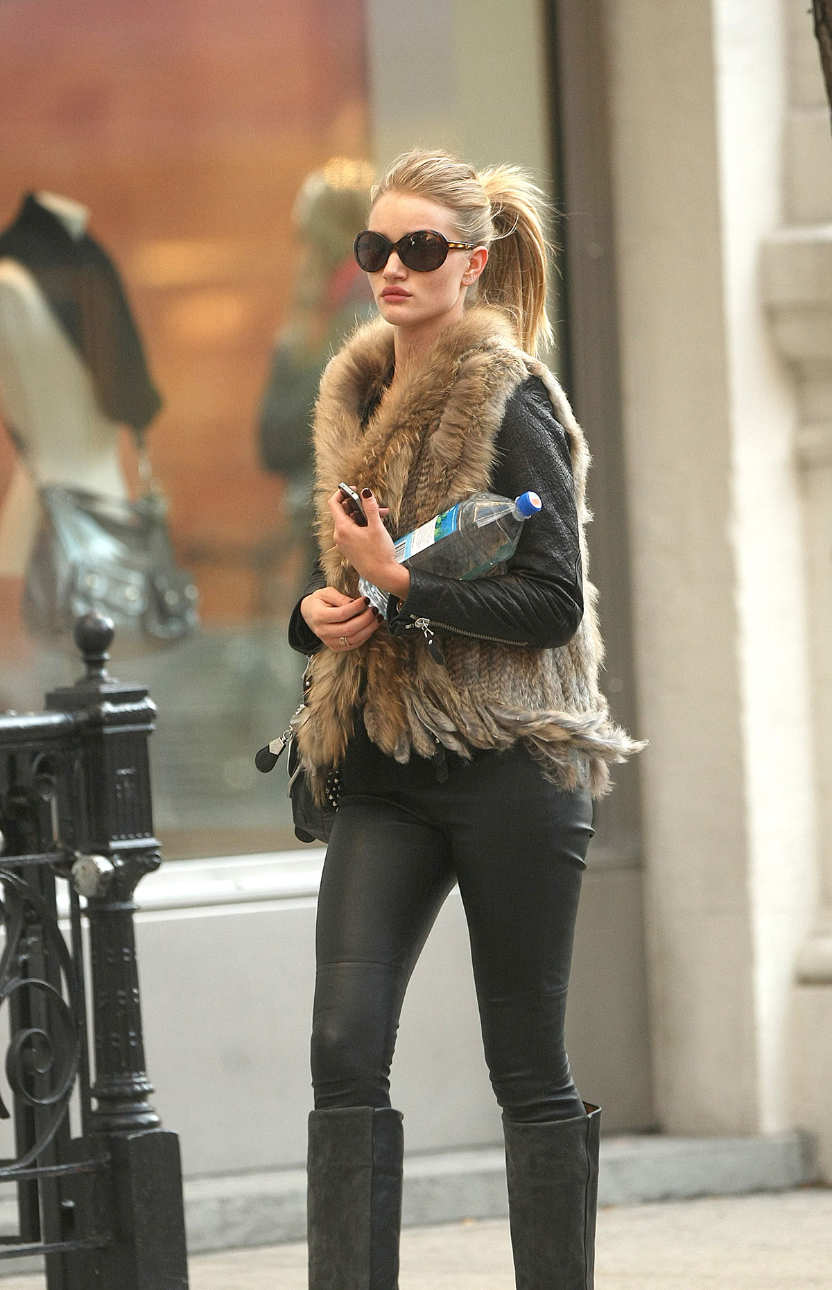 Rosie Huntington-Whitely steps out in New York