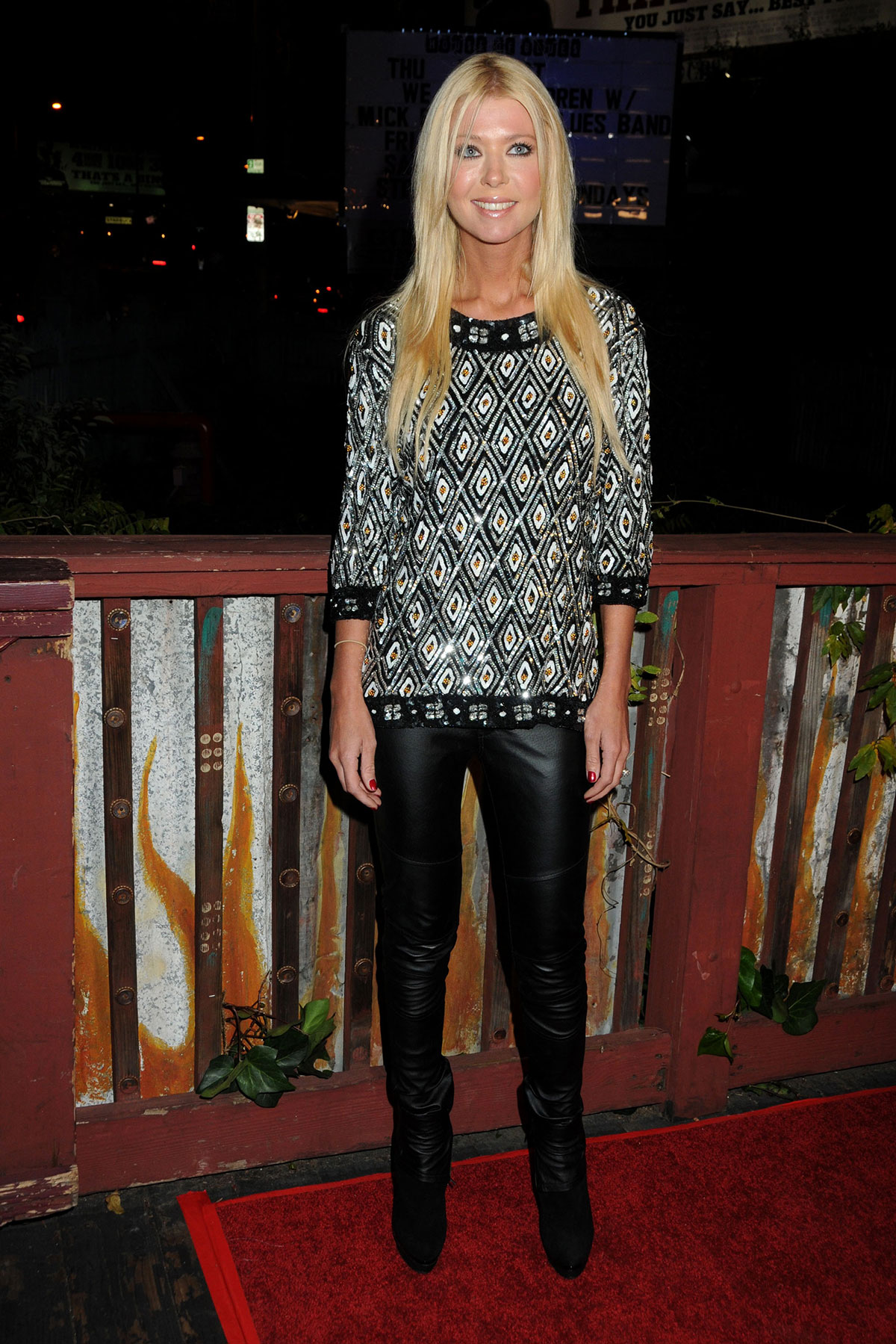 Tara Reid at a Project We The Children benefit concert