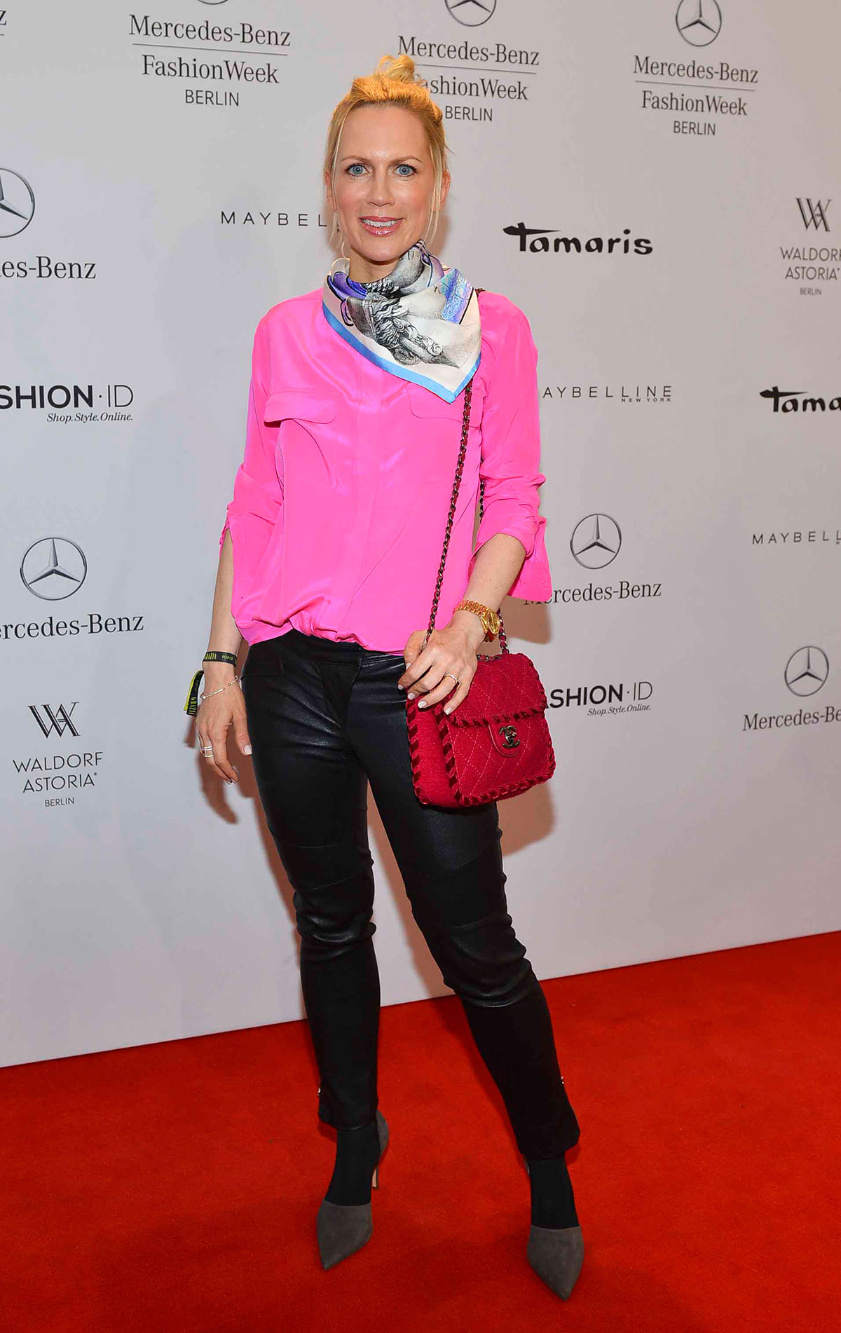 Tamara Graefin von Nayhauss-Cormons attends Mercedes-Benz Fashion Week