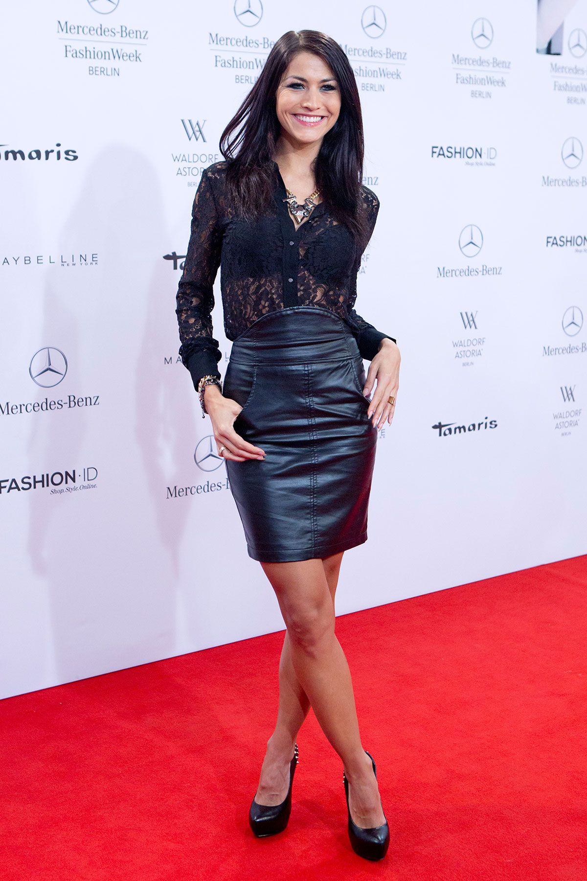 Gallery leather celebrities for Mercedes benz clothes