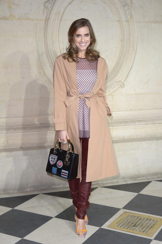 Allison Williams attends Christian Dior fashion show