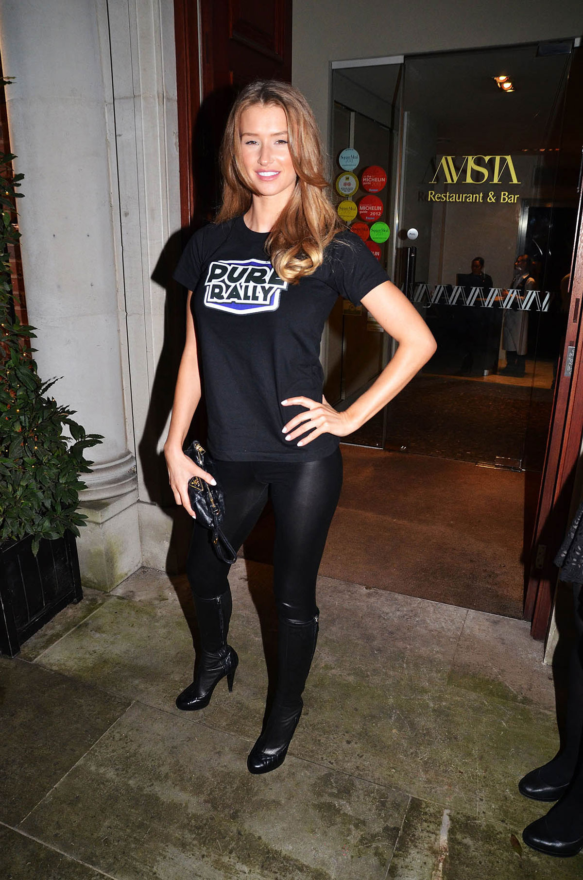 Danica Thrall attends 2014 Super Car Rally launch