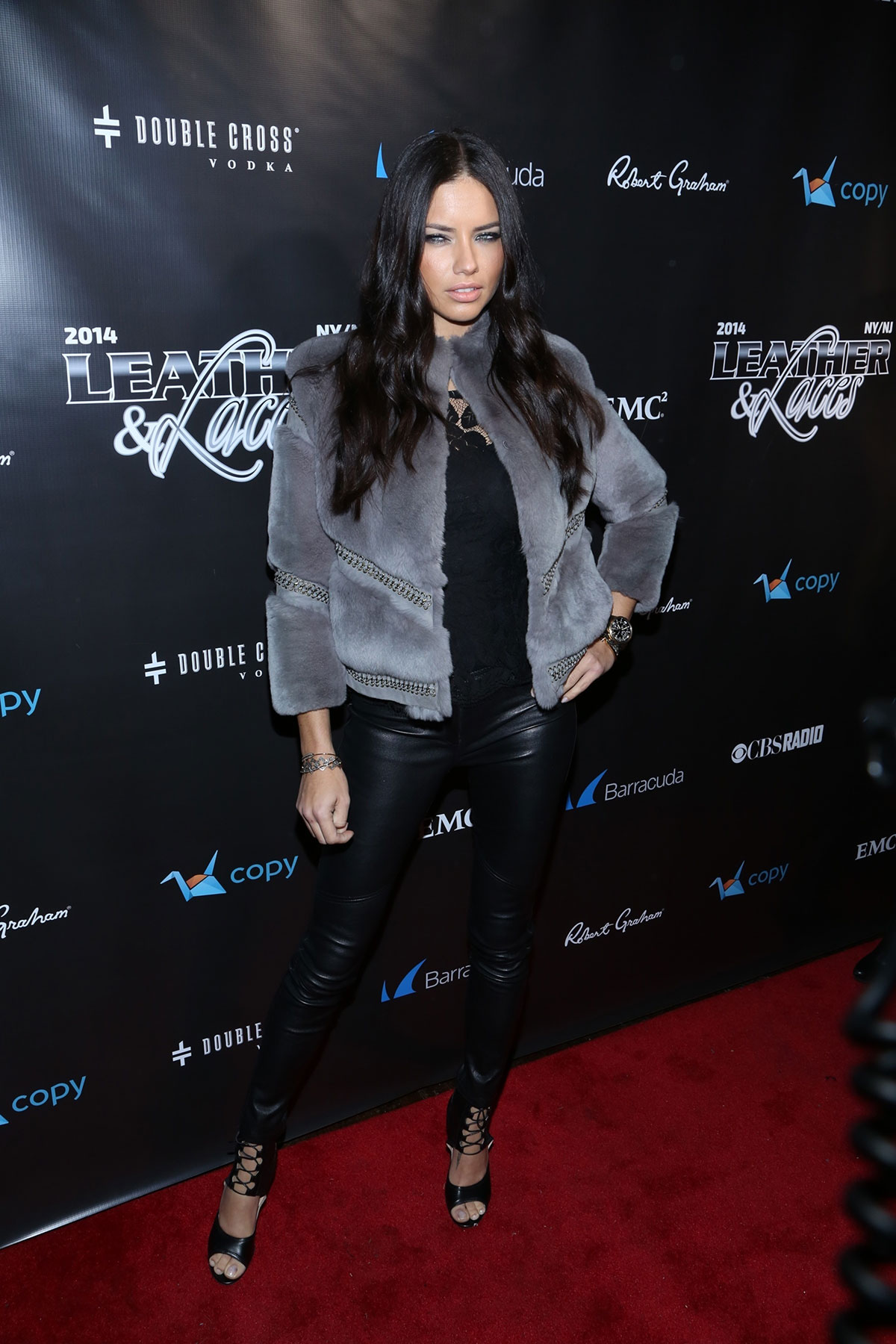 Adriana Lima at the 11th Annual Leather & Laces Party