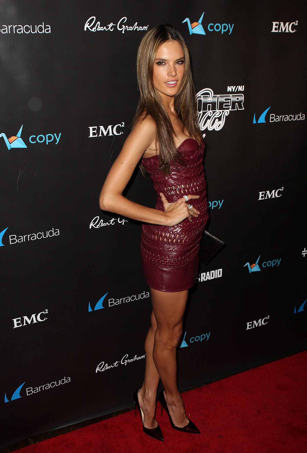 Alessandra Ambrosio at the 11th Annual Leather & Laces Party
