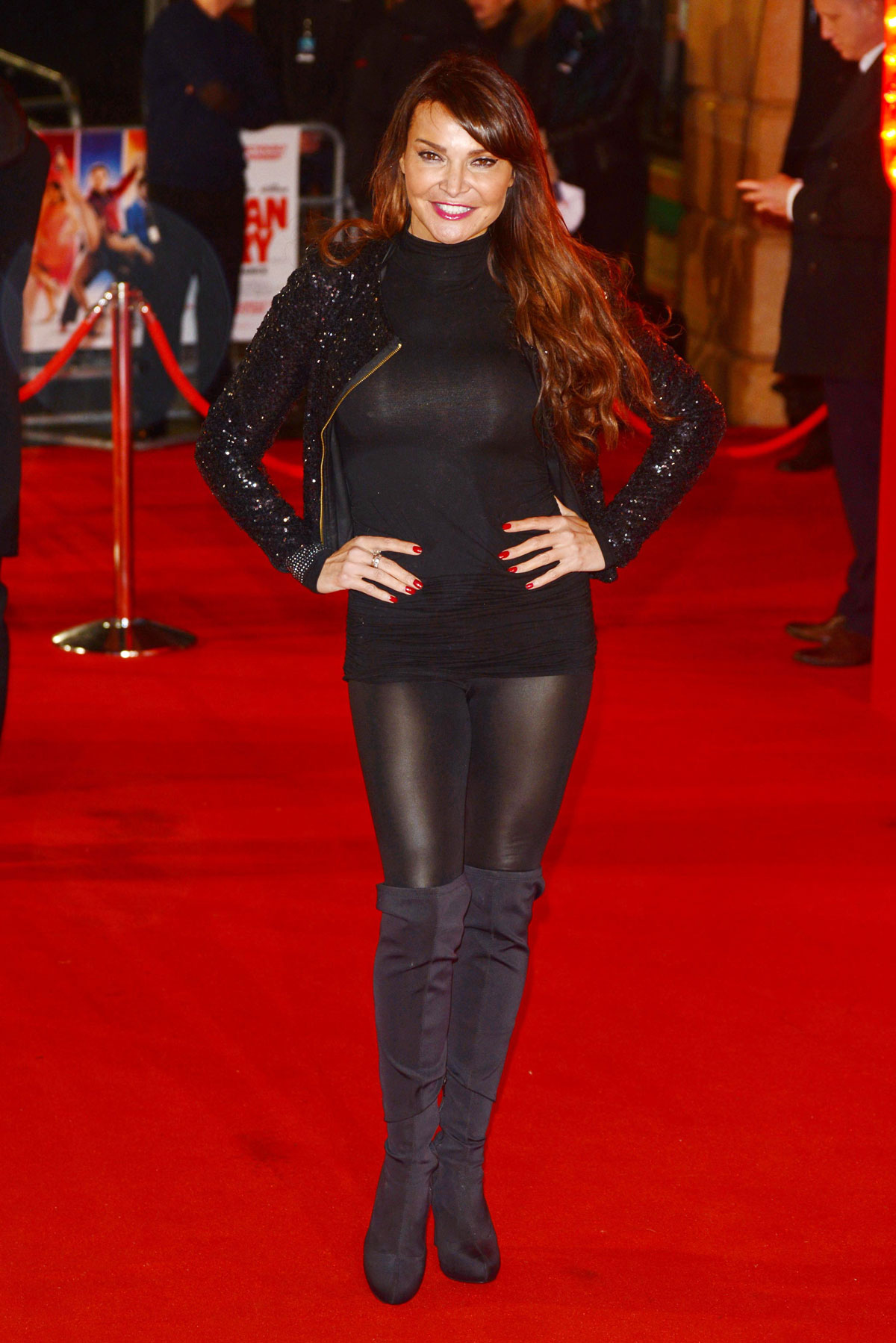Lizzie Cundy attends World Premiere of Cuban Fury