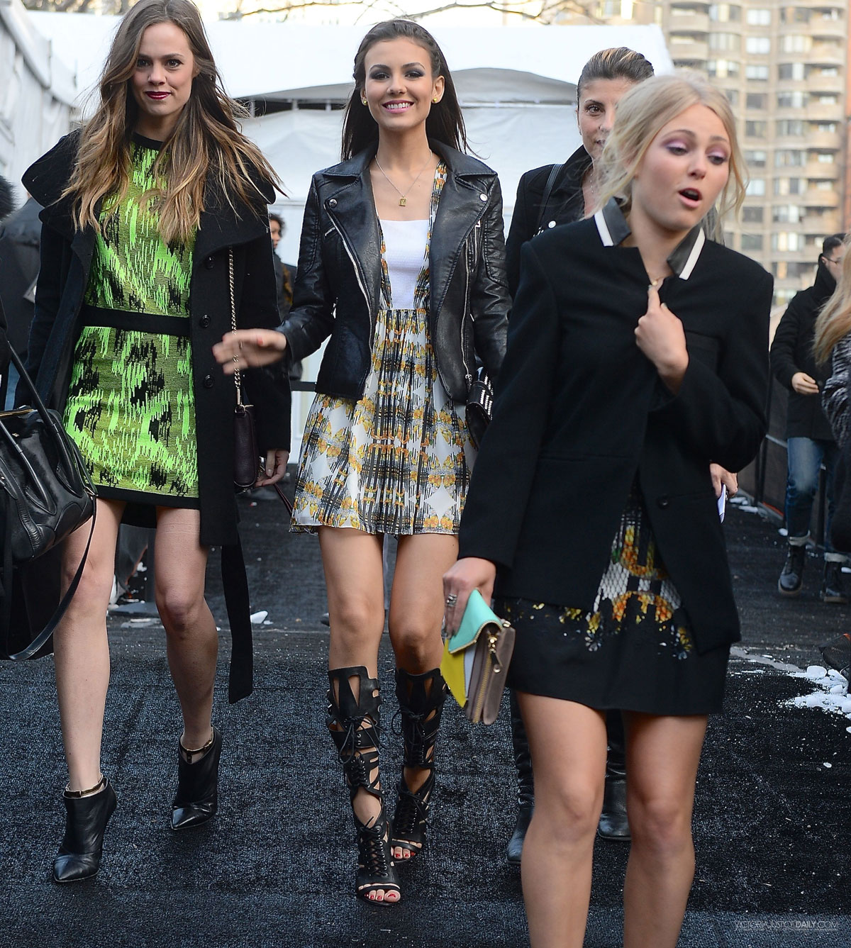 Victoria Justice leaving RM Fashion Show