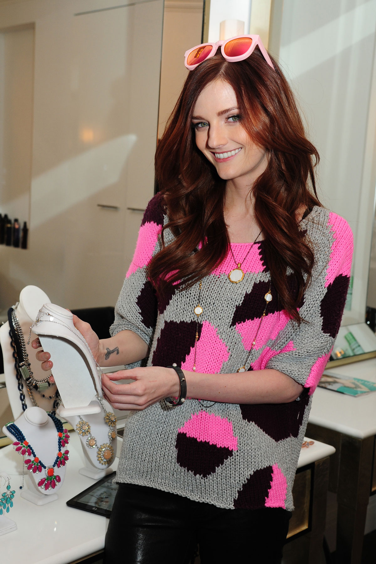 Lydia Hearst attends Lia Sophia DreamDry Celebrate