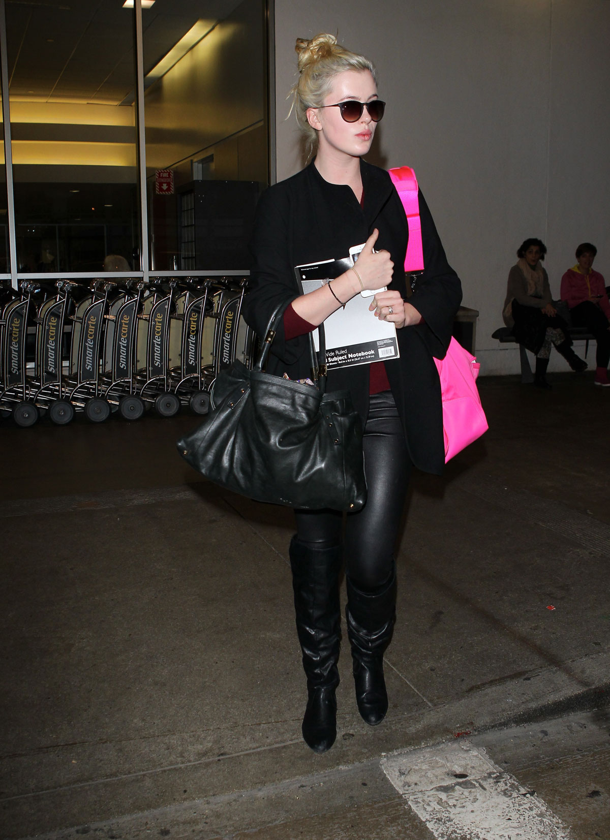 Ireland Baldwin at LAX Airport