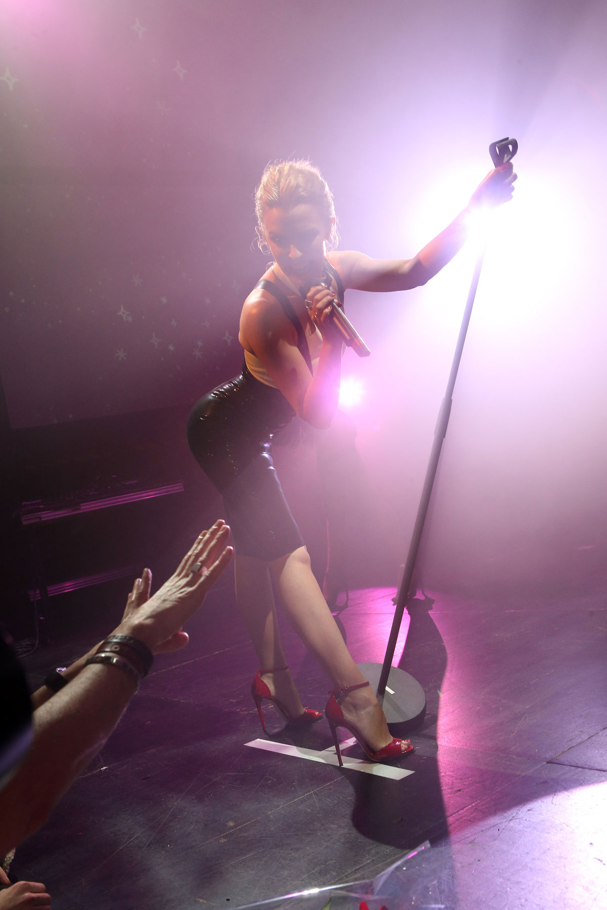 Kylie Minogue performs at La Gaite Lyrique for Colette French Kiss Love Music Night