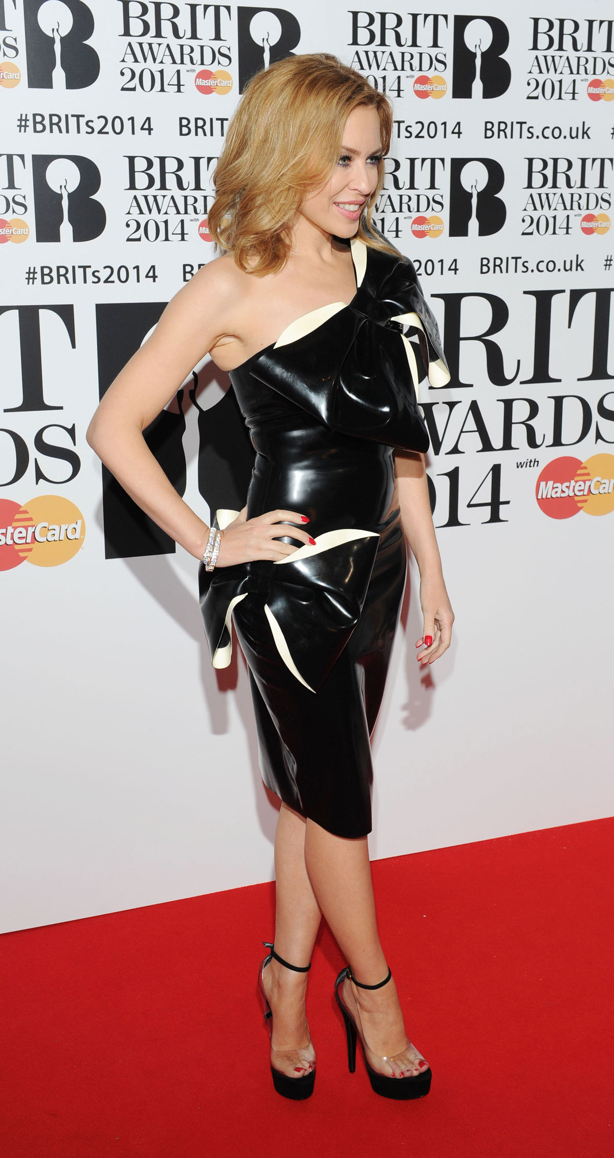 Kylie Minogue attends The BRIT Awards 2014