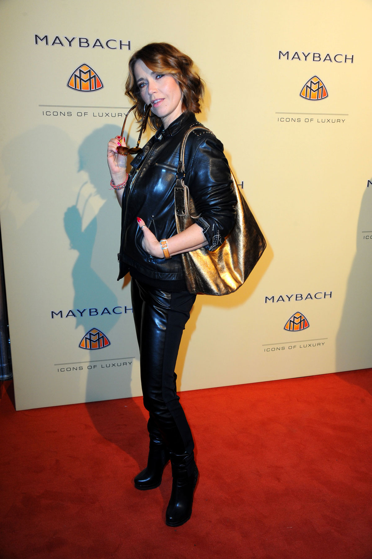 Tina Ruland attends Grand Opening Flagship Store Maybach Icons