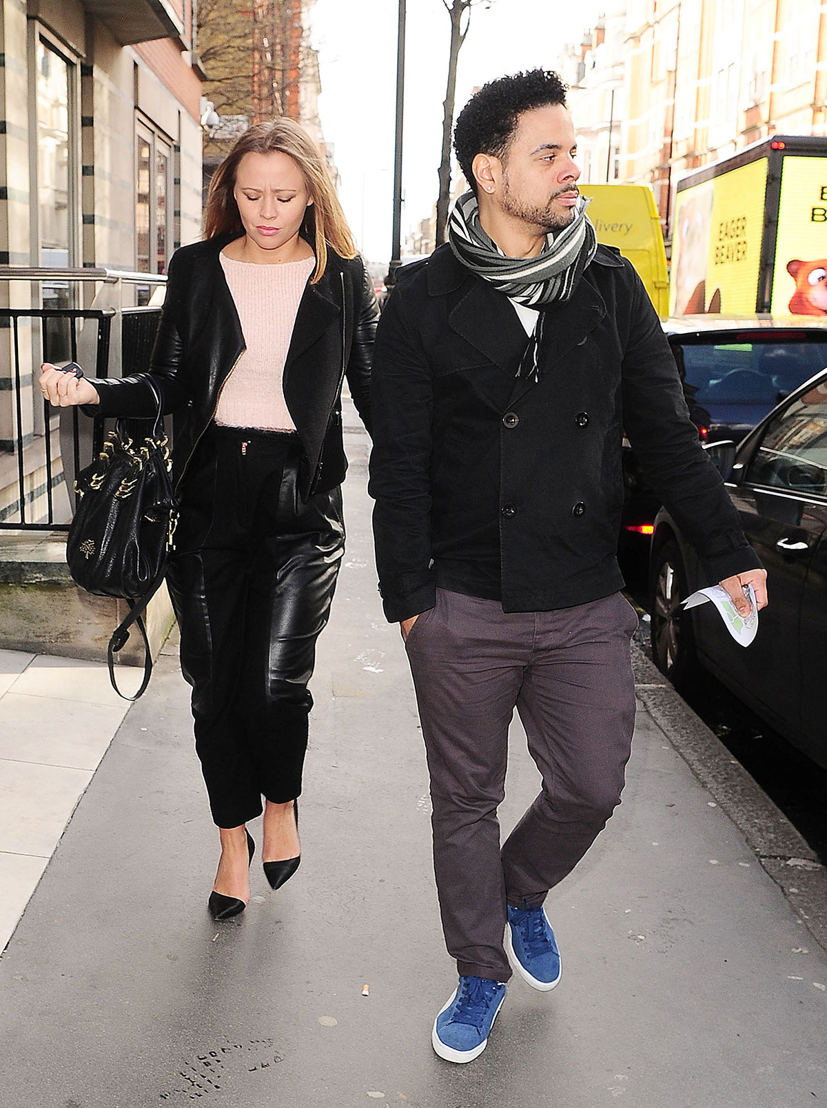 Kimberley Walsh out and about in London
