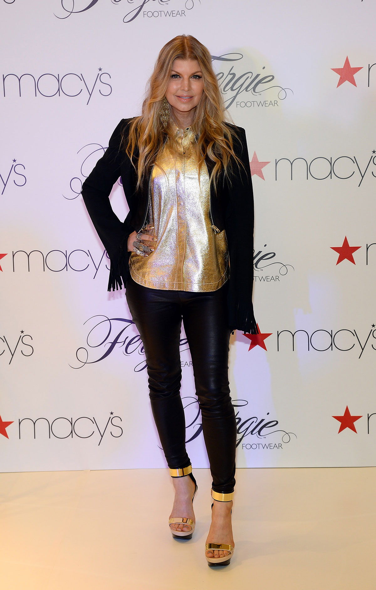 Fergie Duhamel at Macy's at the Fashion Show mall