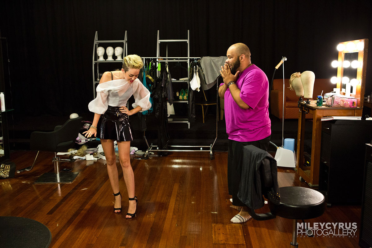 Miley Cyrus on Styled To Rock