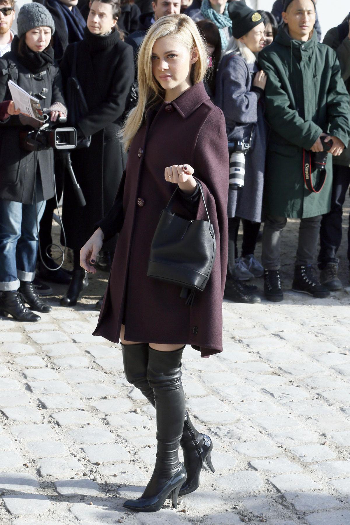 Nicola Peltz attends the Louis Vuitton show