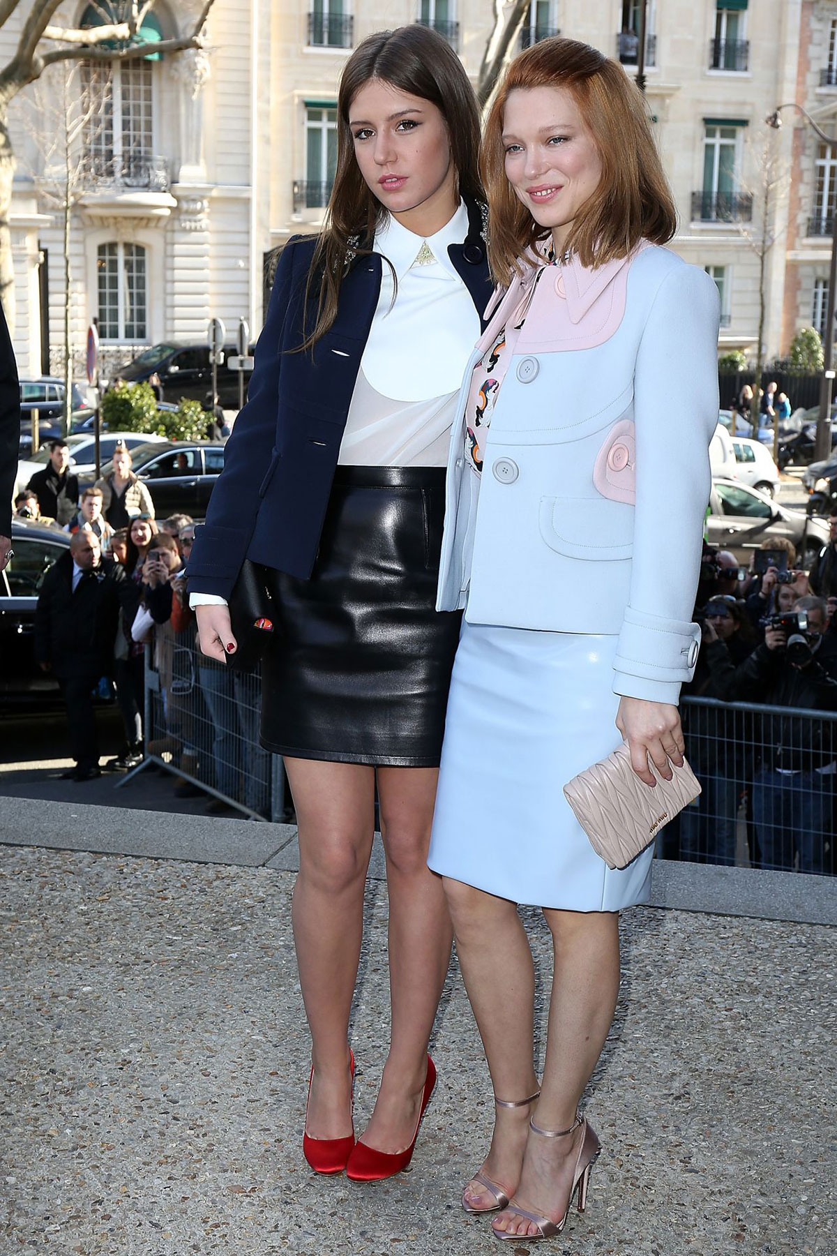 Adele Exarchopoulos attends the Miu Miu show
