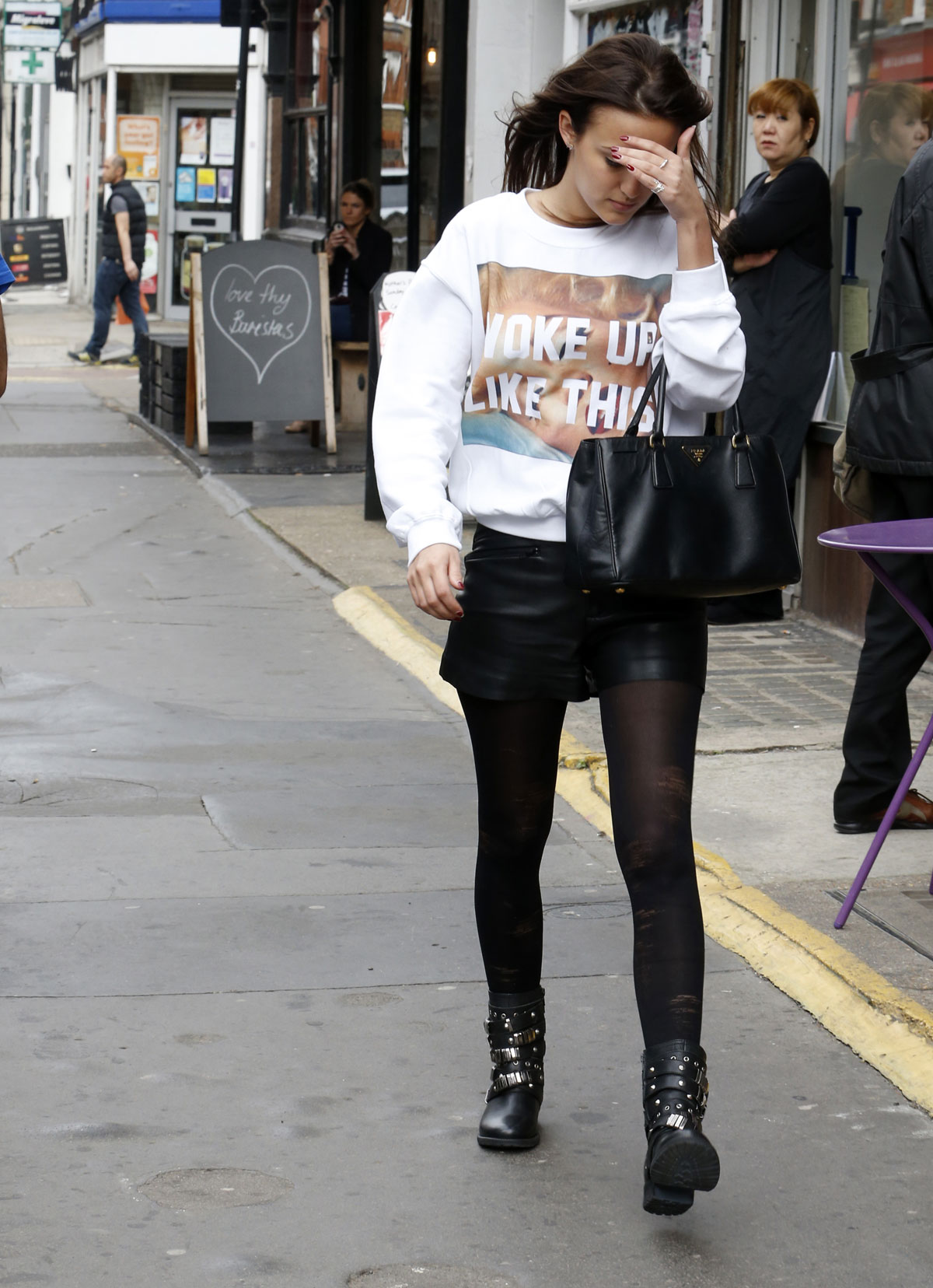 Lucy Watson out and about in London