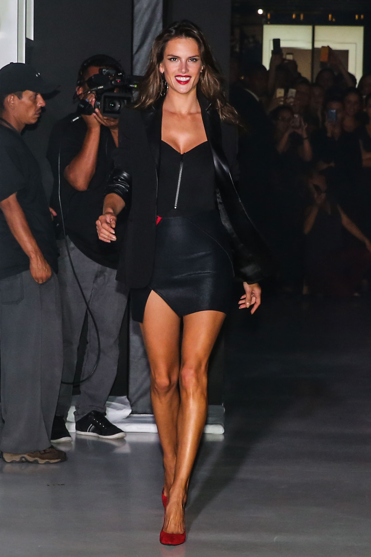 Alessandra Ambrosio attends the 2014 Schutz Fall Collection Fashion Show