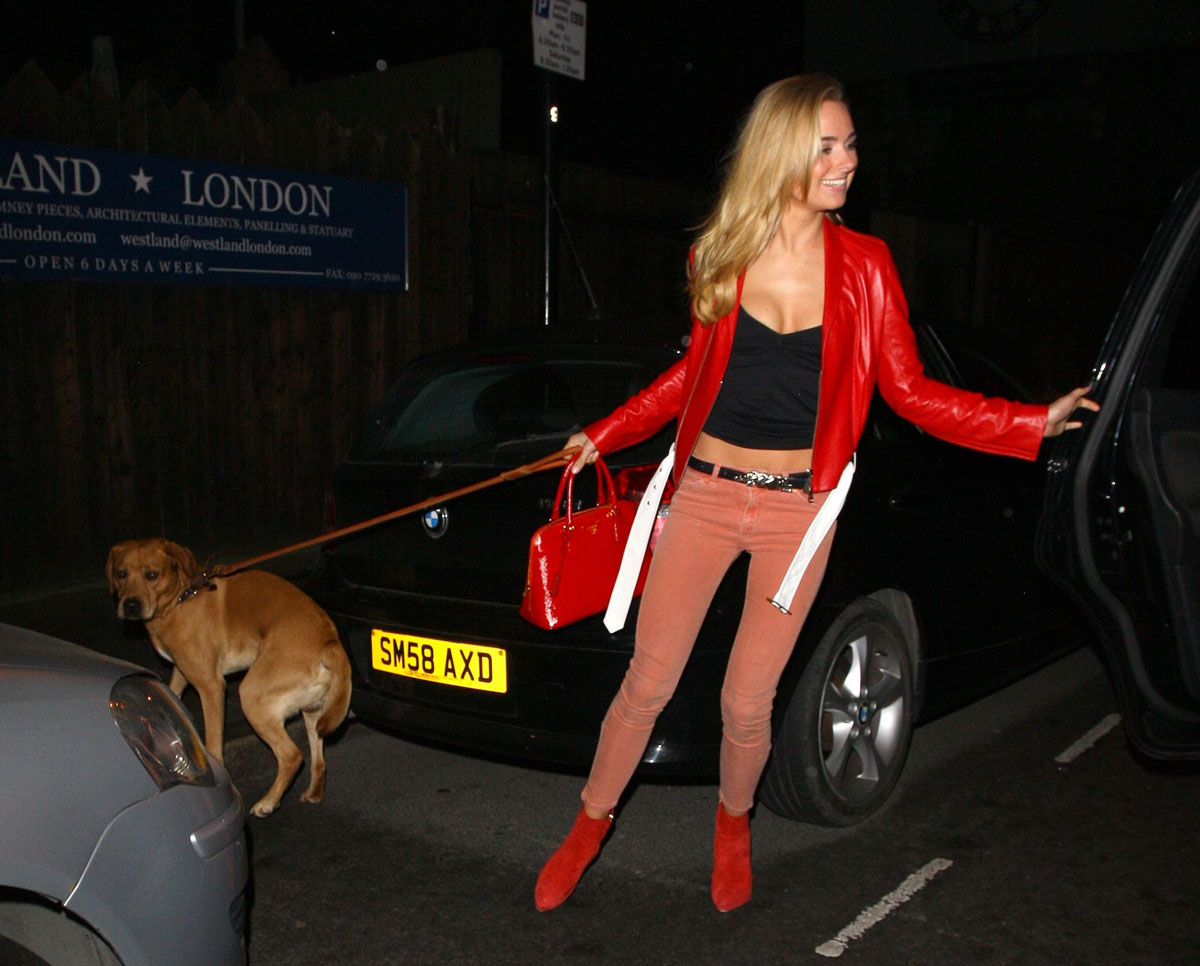 Kimberley Garner arrives at The Company of Dogs Pet Portrait Exhibition