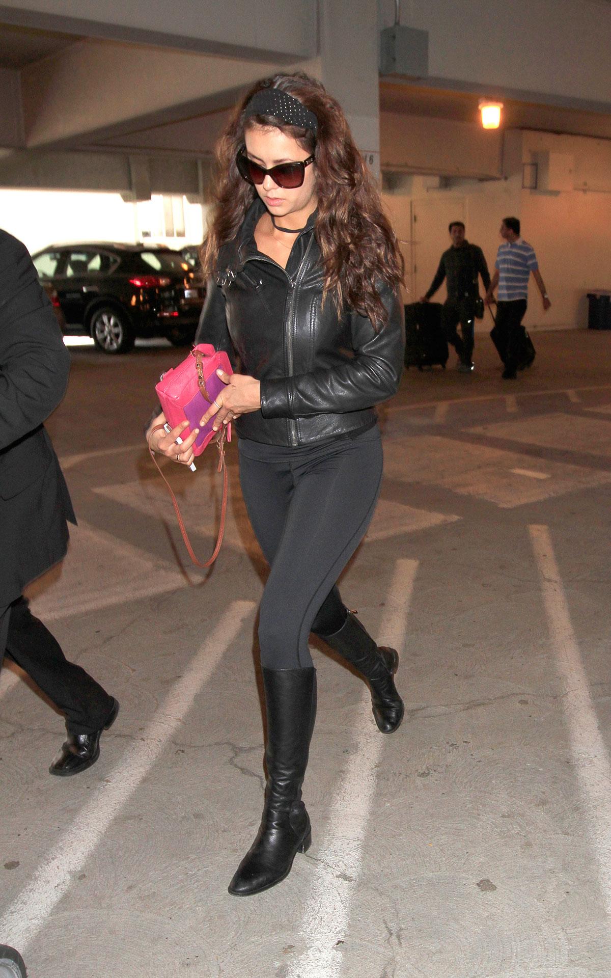 Nina Dobrev at LAX Airport
