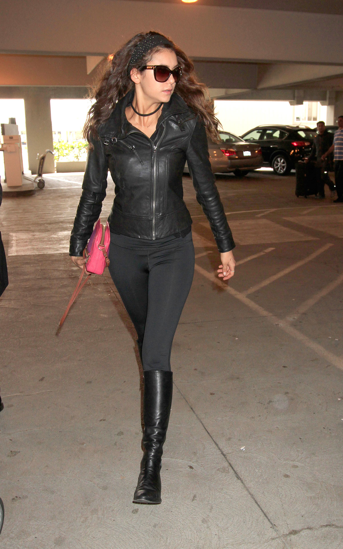 Nina Dobrev at LAX Airport