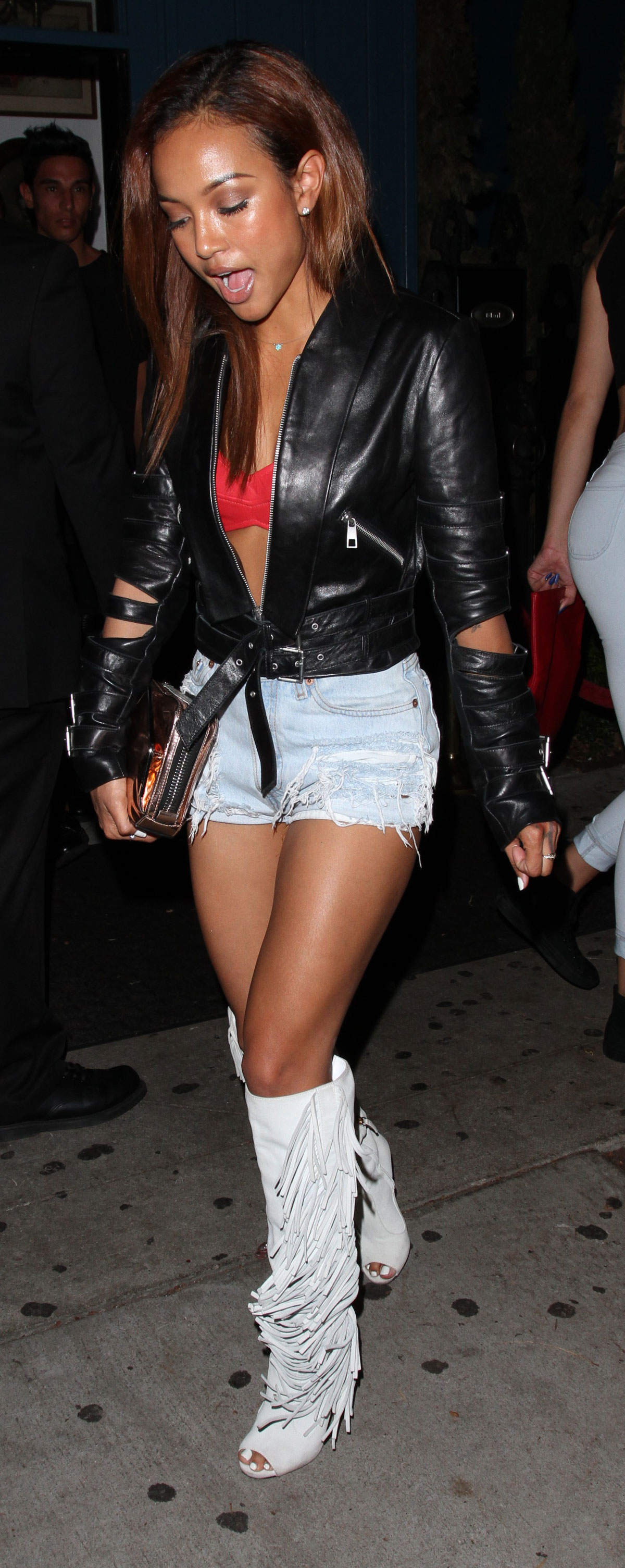Karruche Tran at Hooray Henry's in West Hollywood