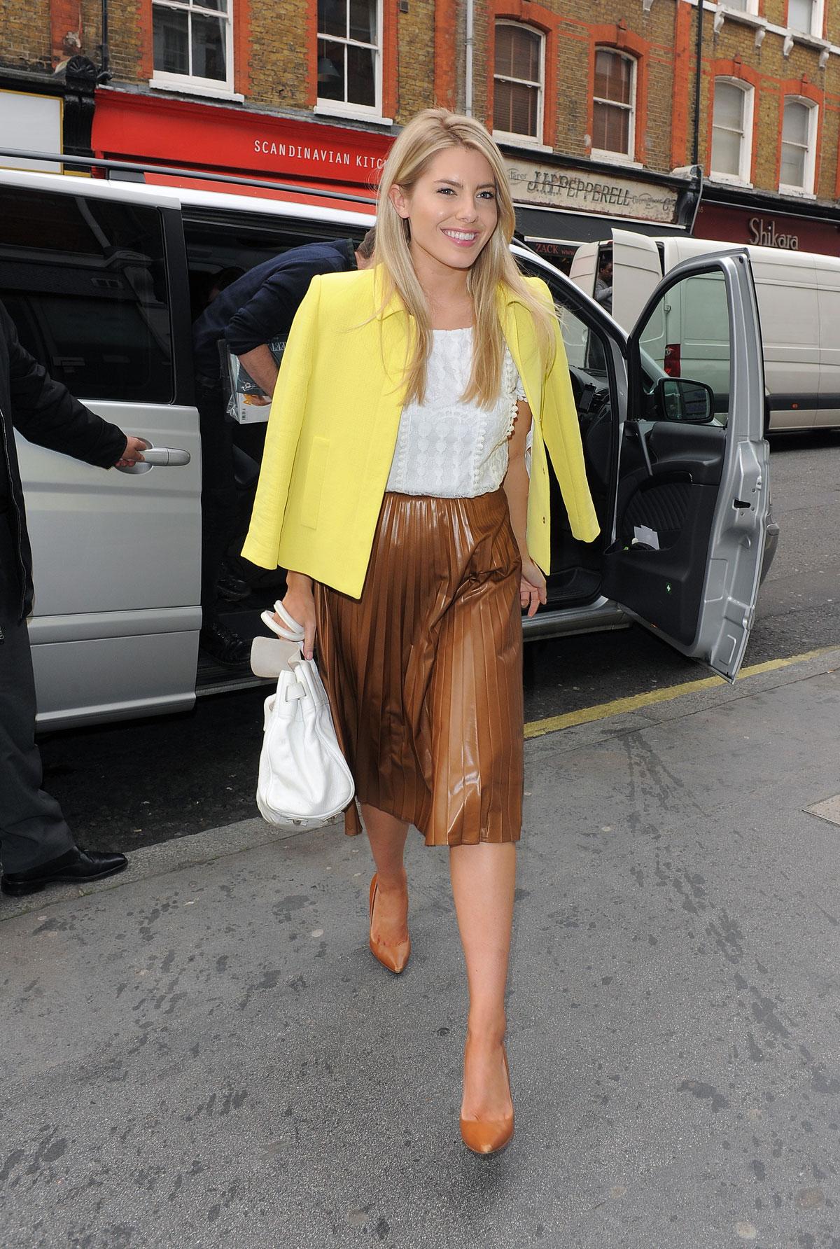 Mollie King arrives at Capital FM studios