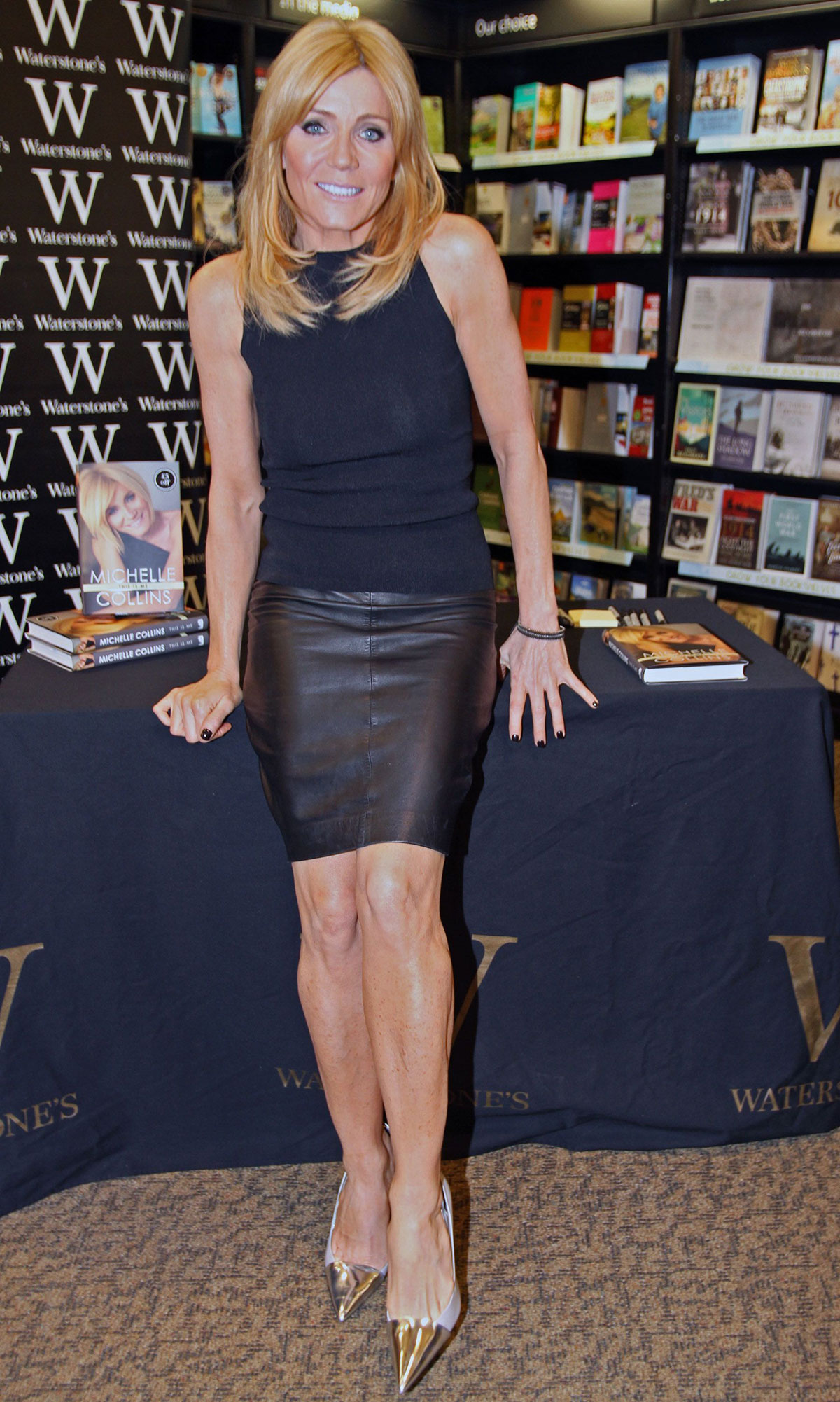 Michelle Collins at Book Launch Trafford