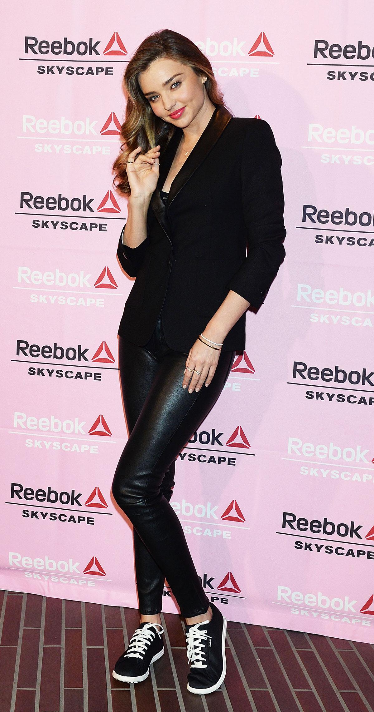 Miranda Kerr attends the Reebok Skyscape party photocall
