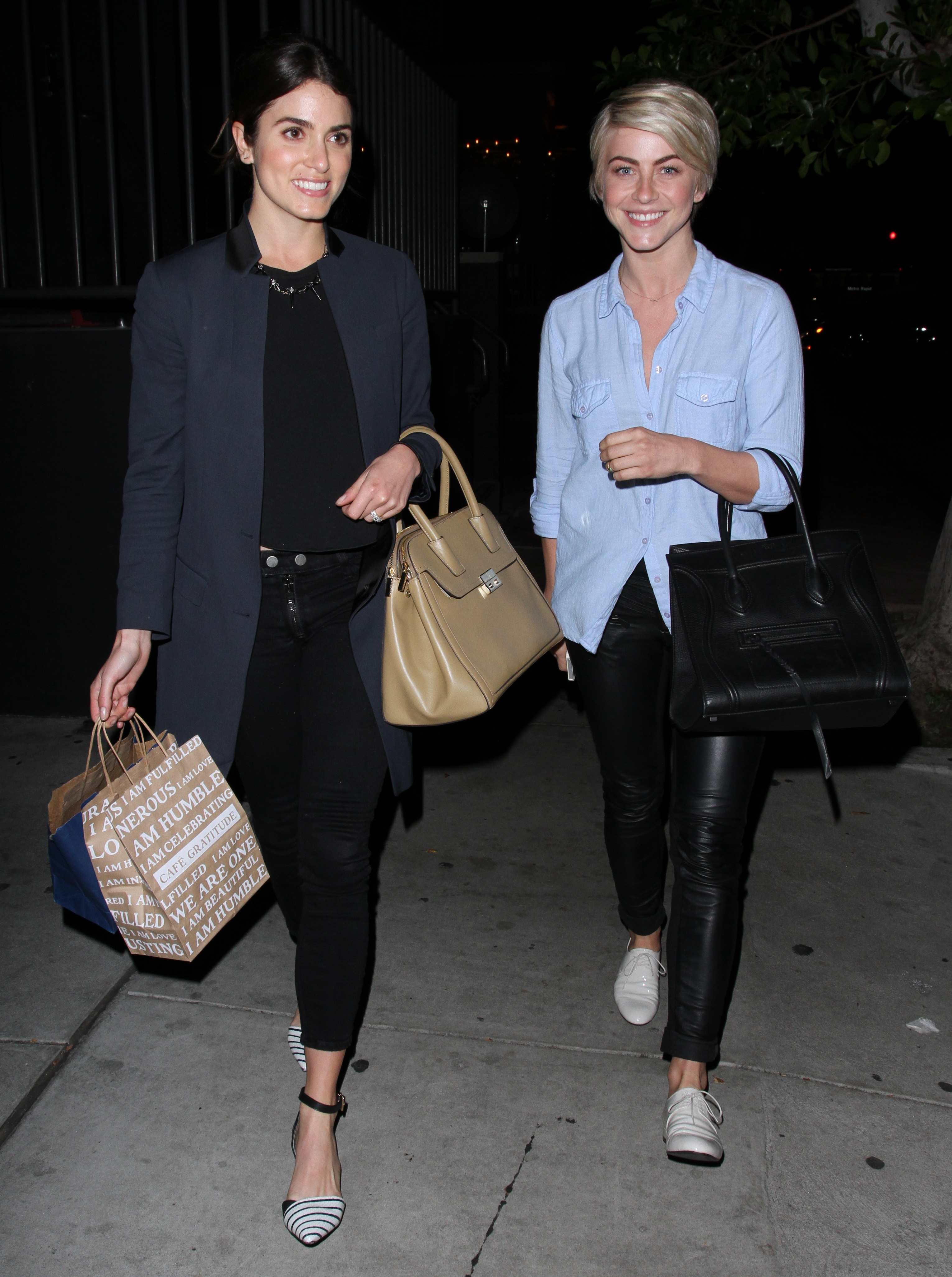 Julianne Hough Leaving the Gratitude Cafe