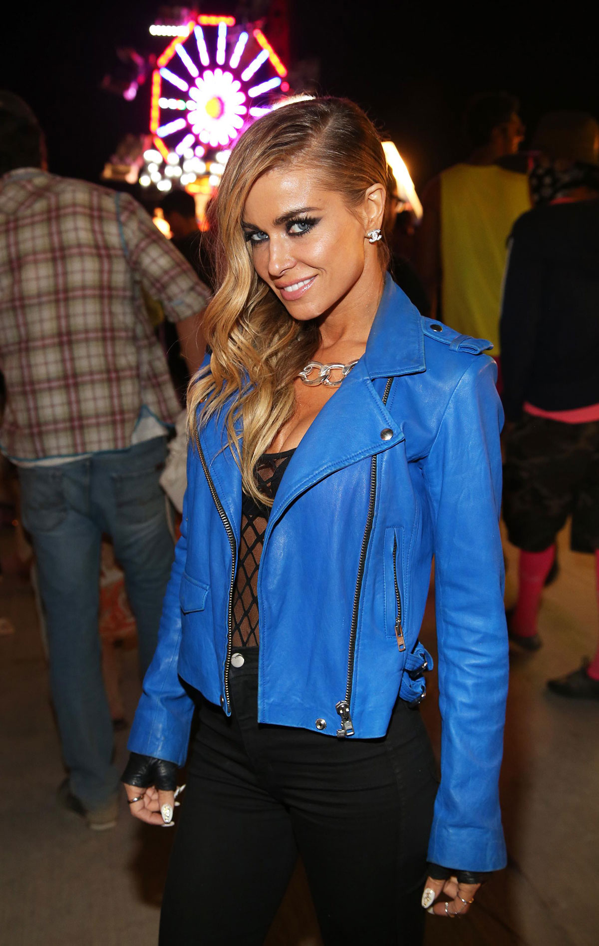 Carmen Electra attends NYLON And Olay Fresh Effects Present Neon Carnival