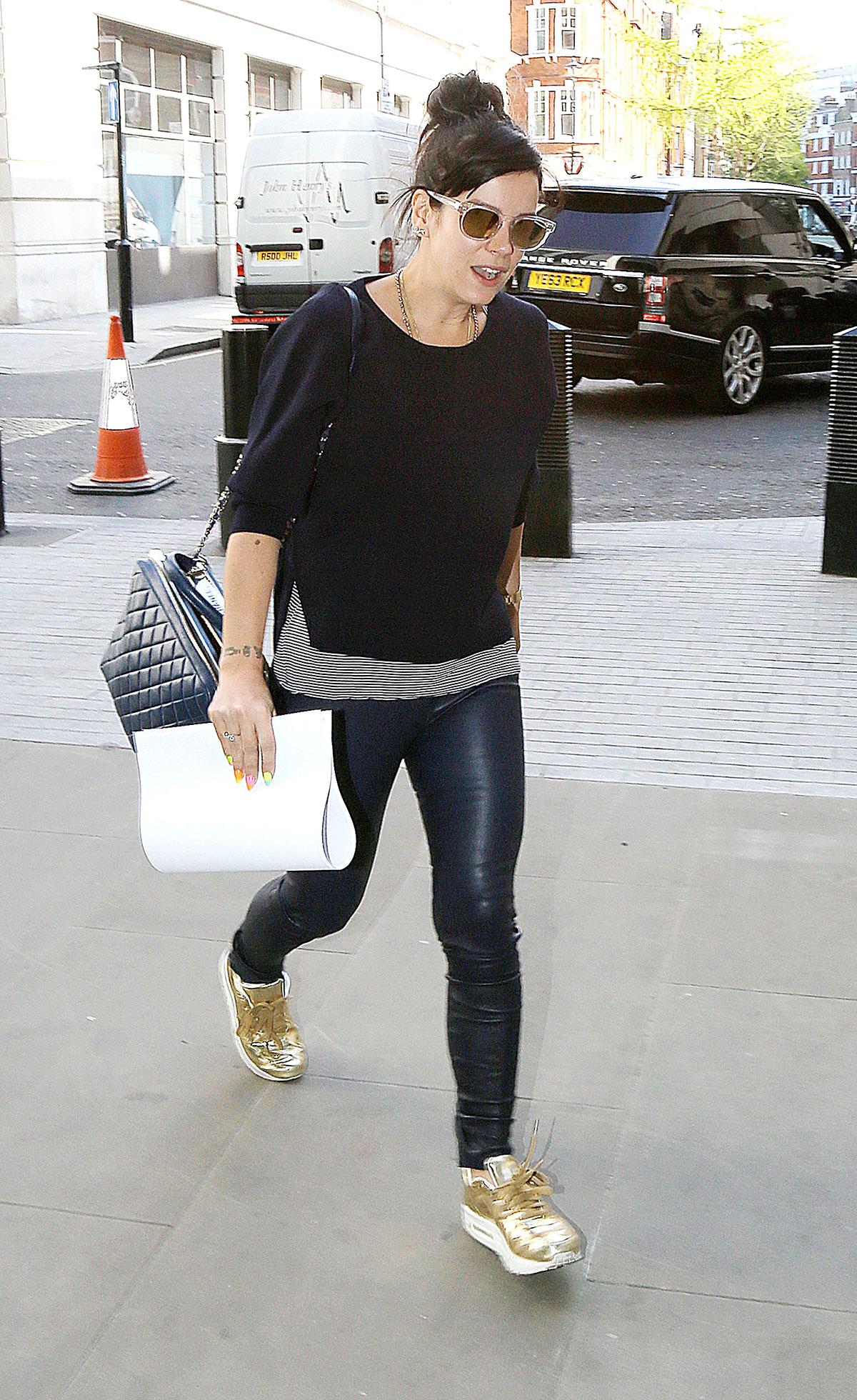 Lily Allen at BBC Radio 1 studios