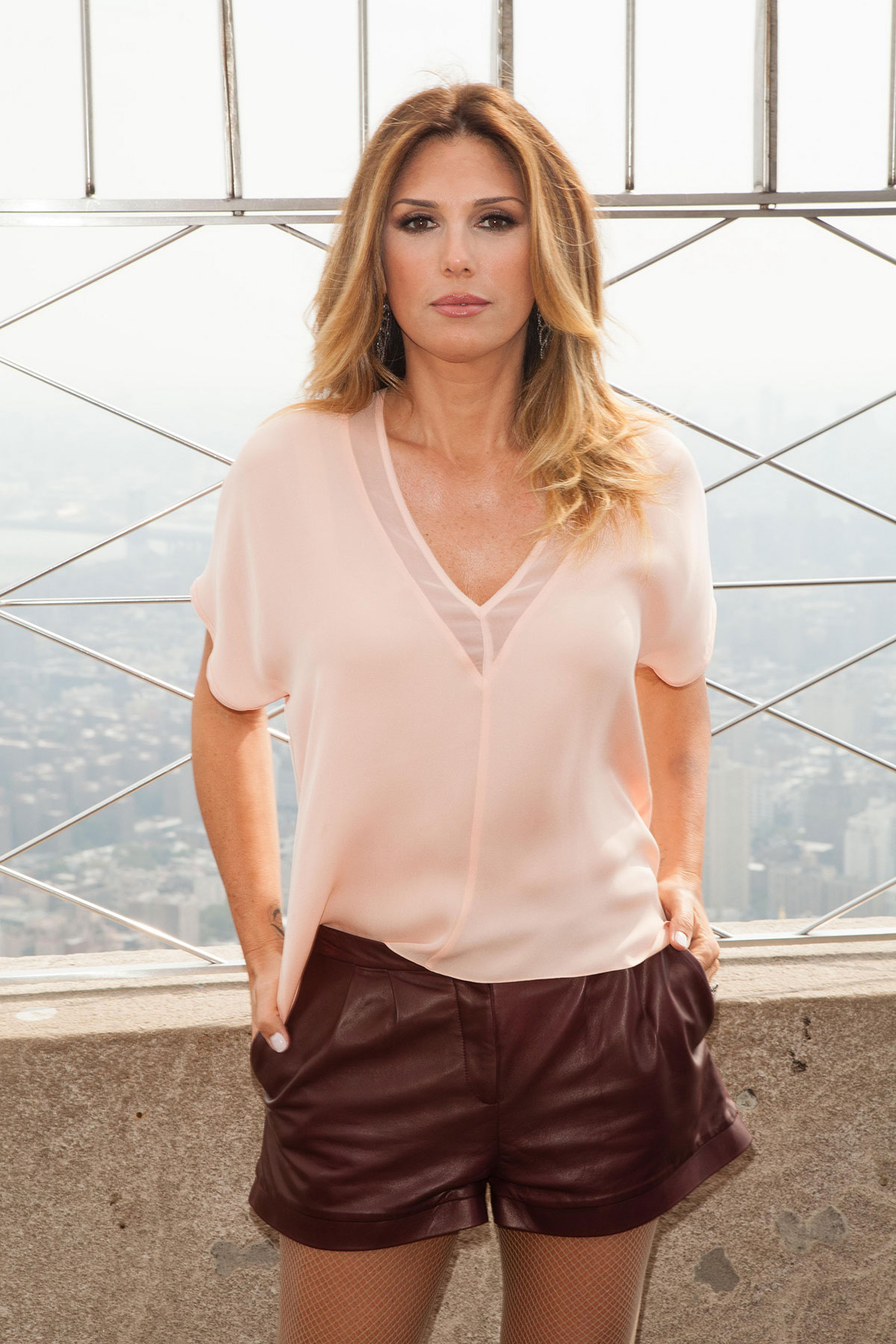 Daisy Fuentes at Empire State Building