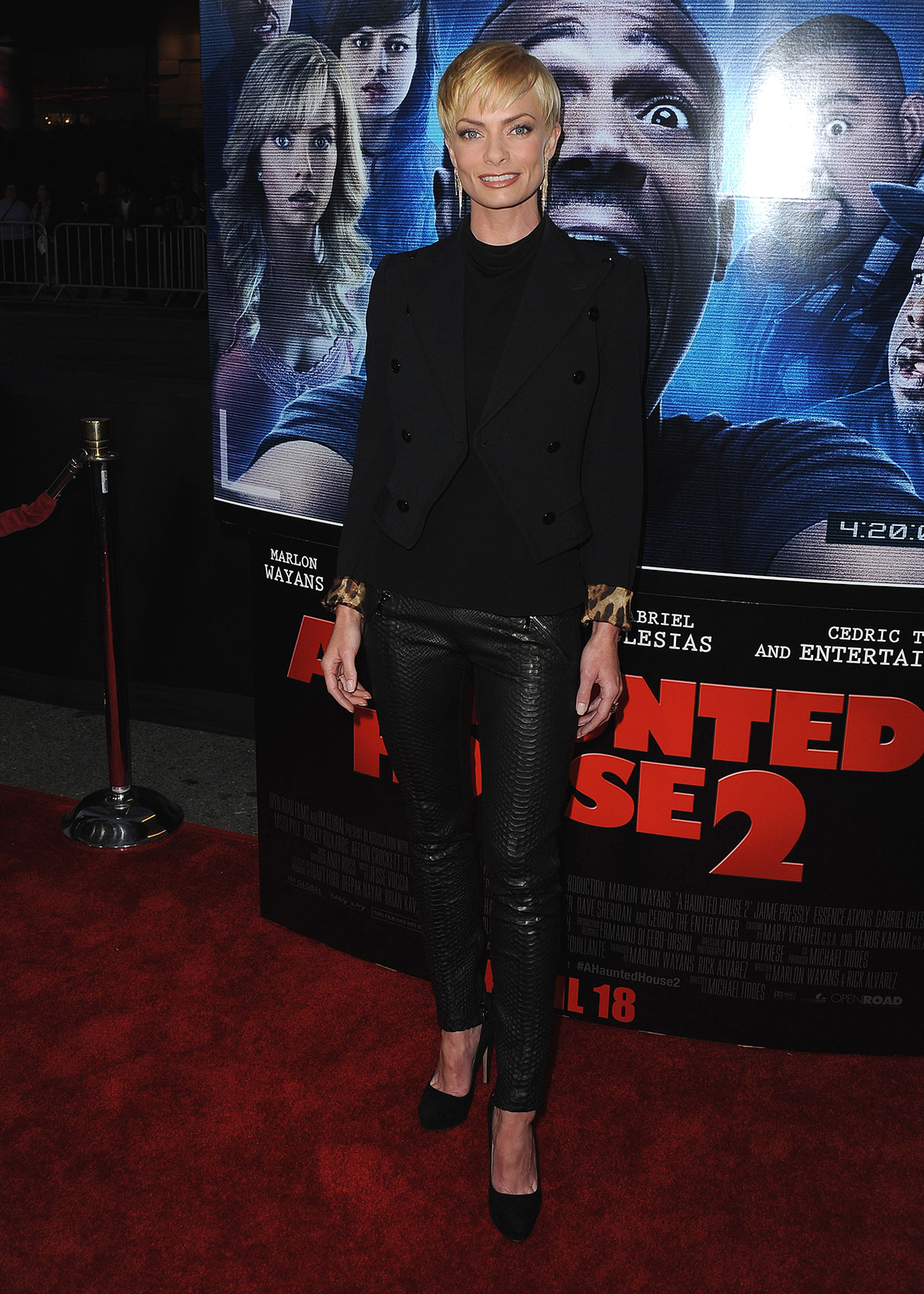 Jaime Pressly attends A Haunted House 2 Premiere