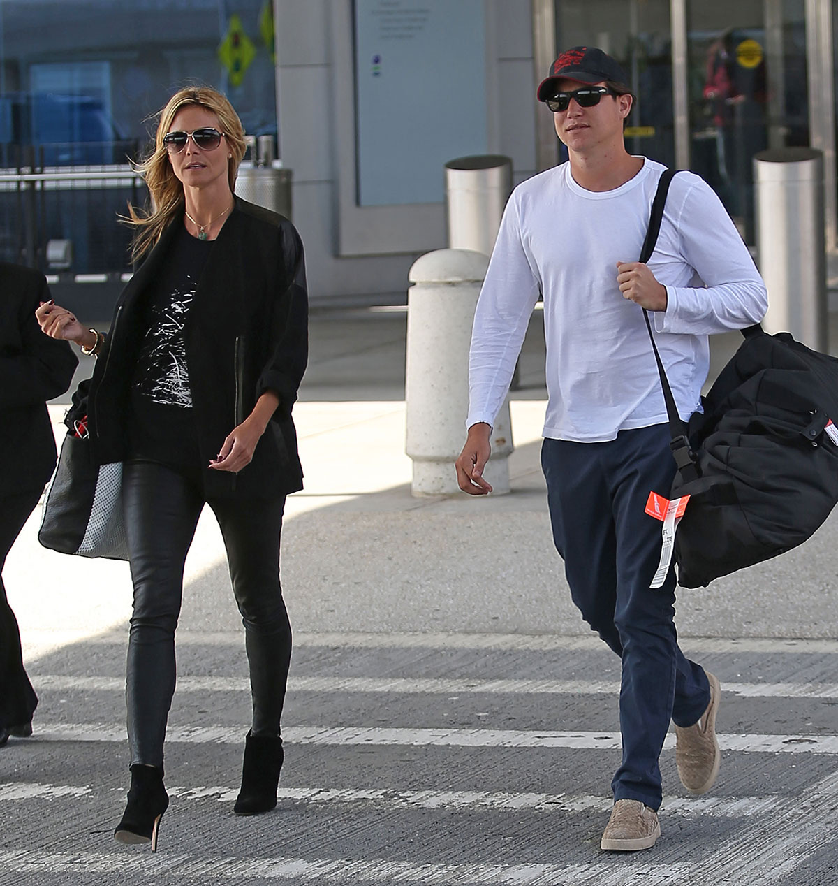 Heidi Klum return to New York